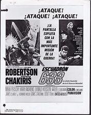 George Chakiris Cliff Robertson 633 Squadron 1964 original movie photo 20519
