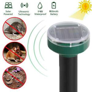 Ultrasonic Solar Powered Rodent Mole Rat Mouse Repeller Deterrent Control UK