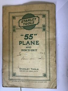 Original instructions for Stanley 55 plane from 1937