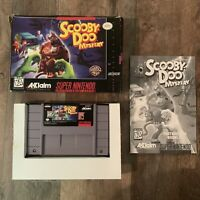 Scooby-Doo Mystery Super Nintendo Entertainment System SNES CIB Acclaim