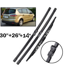 Front Rear Windshield Wiper Blades Kit For Ford S-max 2006 - 2008 pre-facelift
