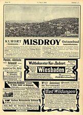 Kurorte Ostseebad Misdroy Bad Wildungen Wiesbaden Oberwaid b.St. Gallen u.a.1900