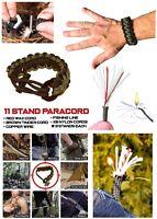 Ultra 11 In 1 Strand Paracord Fire Starter Bracelet 5.5m Hiking Fishing Cord