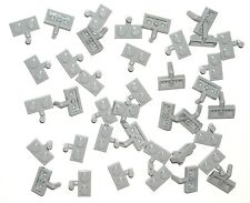 LEGO 40 Light Bluish Gray PLATES Modified 1 x 2 with ARM UP NEW