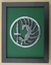Large Scale Framed French Foreign Legion 2nd Rep Cap Badge Plaque Parachute