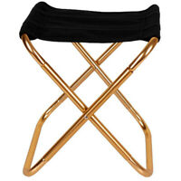 Gold Portable Folding Aluminum Chair Outdoor Camping Fishing BBQ Seat Stool