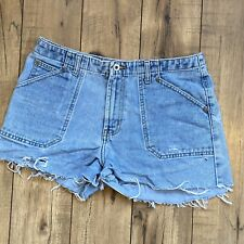 Vintage Canyon River Blues Light Wash Mom Jean High Waist Cut off Shorts Size 9