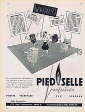 PUBLICITE ADVERTISING 084 1956 PIED-SELLE les nouveautés cuisine chauffage gaz