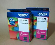[0895*] 2x BROTHER LC23E (LC-23EM) MAGENTA INK ( RRP>$72 )