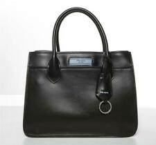 PRADA Black Smooth Leather Multi-Compartment Tote Bag Etiquette Zippered Pouch