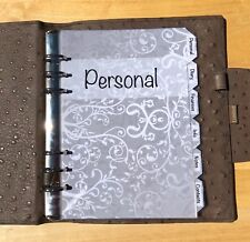 Filofax A5 Organiser Planner - Silver Design Labelled Dividers - Fully Laminated