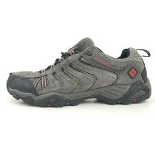 Columbia Mens Shoes Size 8.5 Waterproof Omni-tech Hiking Breathable Gray Red