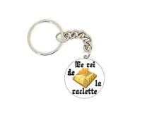Porte clé badge Le Roi De La Raclette idée cadeaux ORIGINAL PERSONNALISATION