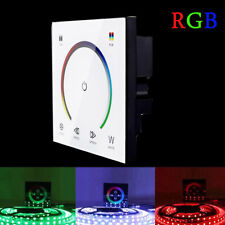 LED Touch Panel Dimmer Wall Switch Modulator For RGB 5050 3528 Strip Lights RC