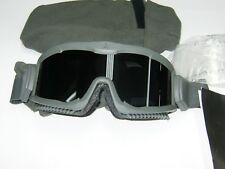 NEW US ARMY GOGGLES ARENA FLAKJAK  MILITARY FOLIAGE GREEN NEW MADE IN USA