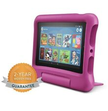 """Amazon Fire 7 Kids Edition Tablet   7"""" Display, 16 GB, Pink Kid-Proof Case"""