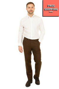 RRP €145 G T A SPORTY CLUB Flat Front Trousers Size 48 / M Zip Fly Made in Italy