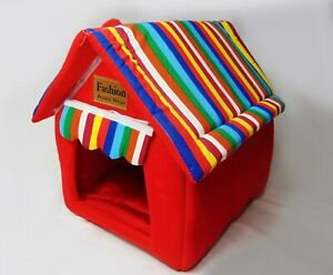 Indoor Kennel House Small Pet Home Soft Cat Warm Cozy Portable Puppy Bed