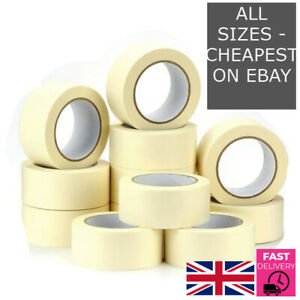 GENERAL MASKING TAPE 50MM - ALL SIZES DIY CRAFT PAINTER EASY TEAR Fast Delivery