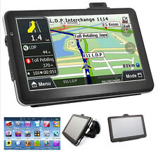 "USA 7"" HD Touch Screen CAR TRUCK GPS Navigation Navigator SAT NAV+Free World Map"