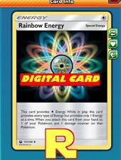 Rainbow Energy Playset - for Pokemon TCG Online ( DIGITAL ptcgo in Game Card)