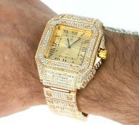 Men's Iced Lab Diamond Luxury Bezel & Band Hip Hop GP Montres Carlo Watch