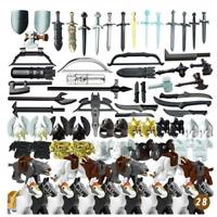 Military Roman Knight Warrior Helmet Armor Horse Shield Weapons lego MOC 2020