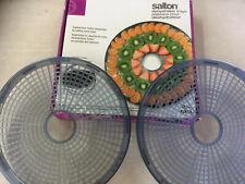 ORIGINAL Salton DH1000TR Food Dehydrator Trays Add On - 2 Trays