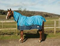 Rhinegold Torrent Full Neck 0g Lightweight Outdoor Turnout Rug in Blue