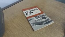Triumph 2000 from 1963: Motor Manuals, Olyslager, P, Nelson, 1968
