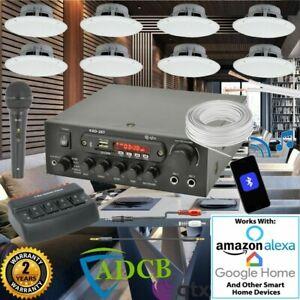 Cafe Restaurant Home Bluetooth Amplifier Ceiling Speaker System Kit - 2,4,8 NEW