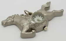 Stainless Steel Horse Necklace Pendant Watch Ladies *New Battery*