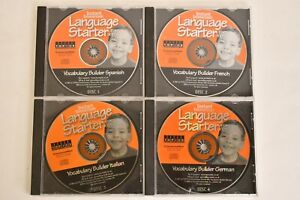Kids Instant Immersion Language Starter Disc Spanish French Italy Germany Lot 4