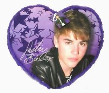 Justin Bieber Purple Heart Shaped Throw Pillow New 2012 NWT Rare Licensed