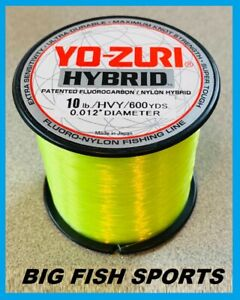 YO-ZURI HYBRID Fluorocarbon Fishing Line 10lb/600yd HIVIS NEW! FREE USA SHIP!