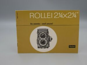 Original 1963 Rolleiflex  'ROLLEI 2 1/4 x 2 1/4' Camera Brochure