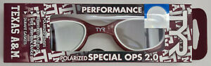TYR Texas A&M Aggies NCAA Swim Team Goggles Special Ops Performance 2.0 New Box