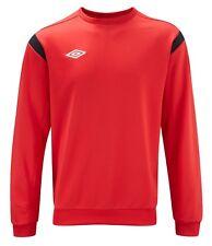 Umbro Mens Classic Training Sweatshirt Crew Neck Football Sweat Top Navy Red NEW