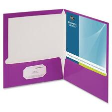 Business Source Two Pocket Folder Ltr 2-Pkts 100 Shts 25/Bx Pe 44429