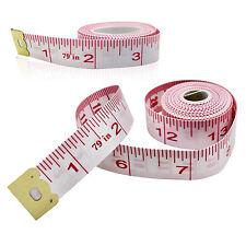 "2pcs Body Measuring Ruler Sewing Cloth Tailor Tape Measure Soft Flat 79"" / 200cm"