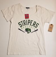 Gwinnett Stripers Women's Baseball T shirt White S M L XL XXL OFFICIAL LICENSED