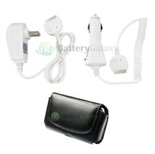 NEW Battery Wall Home+Car Charger+Leather Case for Apple iPhone 4 4G 4S 100+SOLD