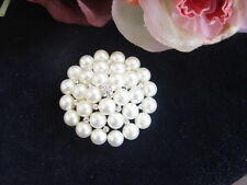 FAUX PEARL & DIAMONTE BROOCH - lots of sparkles