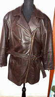 Wilsons Brand Women's Large Brown Leather Jacket with Zip Out Thinsulate Liner