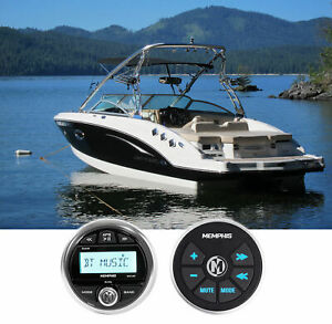 Memphis Audio MXA1MC Marine Gauge Bluetooth Media Receiver+Wired Remote For Boat
