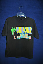 Vintage '90s Unifour Vitamin Distributors black t shirt M USA