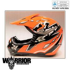 Motocross Helmet - Kids Child, Youth, Orange XS - XL, Aust Std, dirt bike, quad