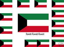 Assortiment lot de 25 autocollants Vinyle sticker drapeau Koweït-Kuwait