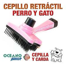 CEPILLO RETRACTIL PERRO Y GATO ROSA CEPILLA Y CARDA 12cm LONGITUD D47 19317