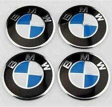 4 Coprimozzo Adesivi Logo BMW 56mm Serie 1 2 3 5 6 7 M Z X Borchie Fregi Cerchi